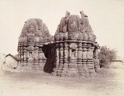 General view from the south-west of old temple at Kasara, Gujarat